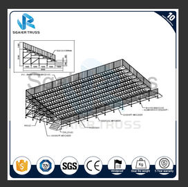 High Strength Steel Grandstand Scaffolding Structure Portable Steel Tribune