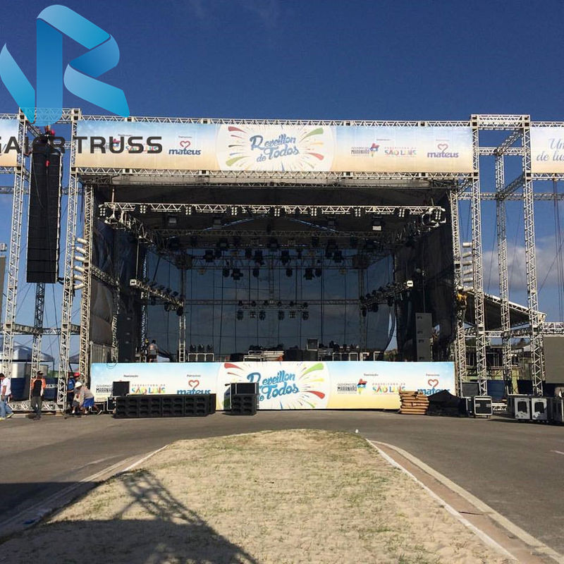 50cm 520 Alloy Concert Truss System , Water Proof Crank Stand Lighting Truss